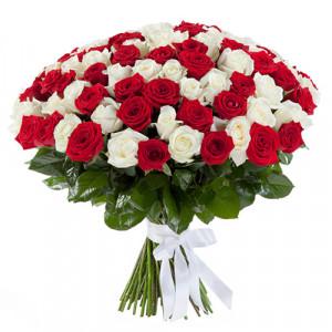 Букет 101 роза классический Микс