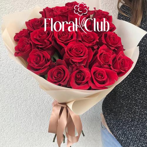 Букет 19 красных роз