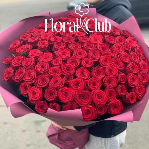 Букет 101 красная роза Original