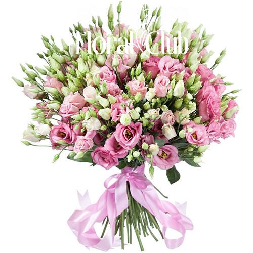 Букет Барокко 29 розовых Эустом