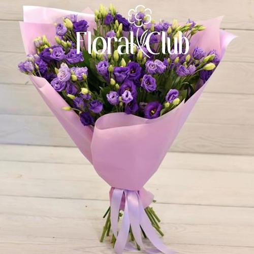 Букет 9 фиолетовых эустом